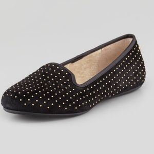 Coach Alloway Studded Suede Sherpa Lined Loafer